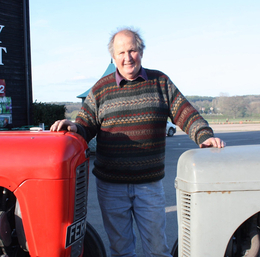 William Peter Marshall with Ferguson Tractor